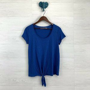 Michael Stars OS Blue Soft Knit Tie Knot Tee